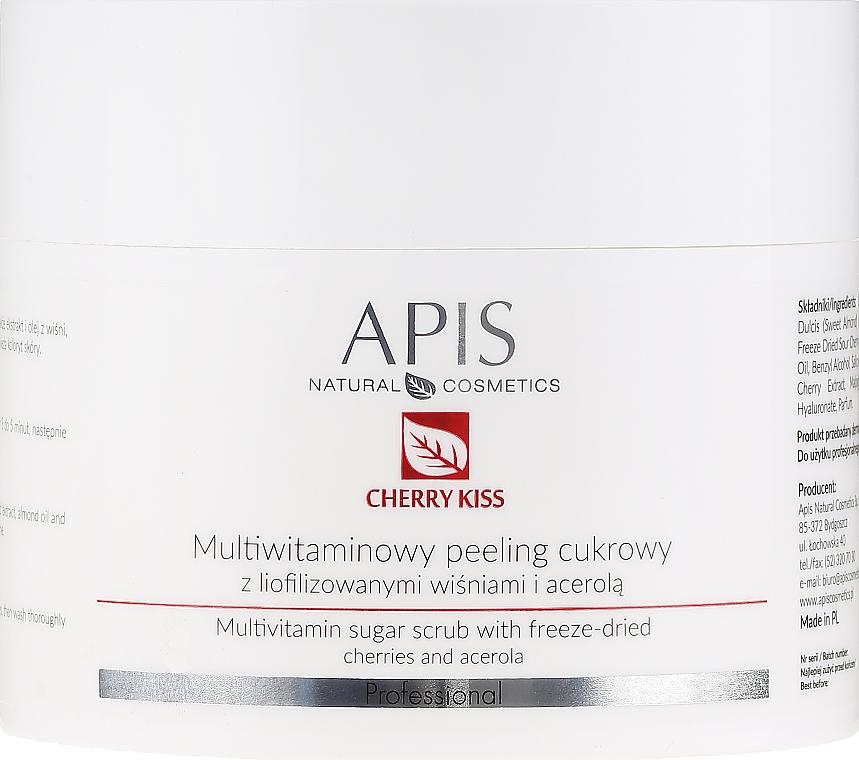 Multivitamin-Zuckerpeeling für den Körper mit gefriergetrockneten Kirschen und Acerola - APIS Professional Cheery Kiss