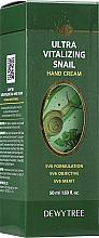 Düfte, Parfümerie und Kosmetik Feuchtigkeitsspendende und pflegende Handcreme mit Schneckenextrakt, Sheabutter und Honig - Dewytree Ultra Vitalizing Snail Hand Cream