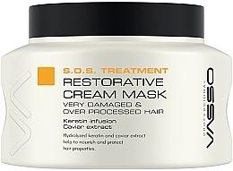 Düfte, Parfümerie und Kosmetik Regenerierende Haarmaske mit Keratin und Kaviarextrakt - Vasso Professional Restorative Cream Mask