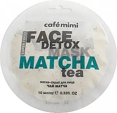 Düfte, Parfümerie und Kosmetik Entgiftende Peelingmaske für das Gesicht mit Matchatee und Aloe Vera - Cafe Mimi Face Mask