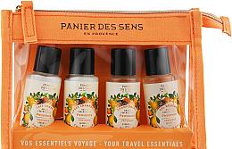 Düfte, Parfümerie und Kosmetik Pflegeset für Körper und Haar - Panier des Sens Travel Set Provence (Duschgel 40ml + Shampoo 40ml + Körperlotion 40ml + Haarspülung 40ml)