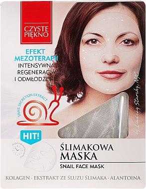 Regenerierende und verjüngende Gesichtsmaske mit Schneckenextrakt - Czyste Piekno Snail Face Mask