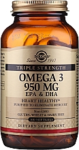 Düfte, Parfümerie und Kosmetik Nahrungsergänzungsmittel Dreifache Stärke Omega-3 950 g mit EPA & DHA 100 Weichkapseln - Solgar Triple Strength 950 Mg