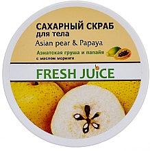 Düfte, Parfümerie und Kosmetik Zuckerpeeling für den Körper mit asiatischer Birne und Papaya - Fresh Juice Asian Pear & Papaya