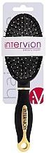 Düfte, Parfümerie und Kosmetik Pneumatische Haarbürste, 499252, schwarz-gold - Inter-Vion