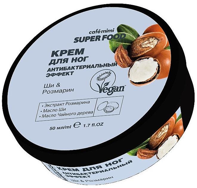 Antibakterielle Fußcreme mit Rosmarinextrakt, Sheabutter und Teebaumöl - Cafe Mimi Super Food