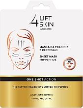 Düfte, Parfümerie und Kosmetik Straffende Lifting-Tuchmaske mit Tripeptiden - Lift4Skin Sheet-Mask Copper Tri-Peptide