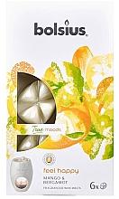 Düfte, Parfümerie und Kosmetik Tart-Duftwachs Mango & Bergamot - Bolsius True Moods Feel Happy Mango & Bergamot Smart Wax System