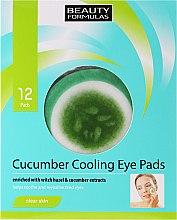 Düfte, Parfümerie und Kosmetik Kühlende Augenpads mit Hasel- und Gurken Extrakt - Beauty Formulas Cucumber Cooling Eye Pads