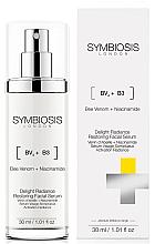 Düfte, Parfümerie und Kosmetik Revitalisierendes Serum für einen strahlenden Teint mit Bienengift und Niacinamid - Symbiosis London Delight Radiance Restoring Facial Serum