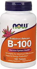 Düfte, Parfümerie und Kosmetik Nahrungsergänzungsmittel Vitamin B-100 für das Nervensystem Retardtabletten 100 St. - Now Foods Vitamin B-100 Sustained Release Tablets