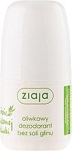 Düfte, Parfümerie und Kosmetik Deo Roll-on Antitranspirant - Ziaja Olive Leaf Roll On Anti-perspirant Without Aluminium Salt