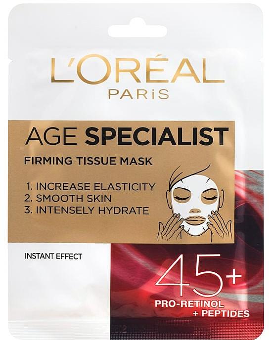 Intensiv feuchtigkeitsspendende und straffende Gesichtsmaske 45+ - L'Oreal Paris Age Specialist 45+