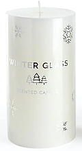 Düfte, Parfümerie und Kosmetik Duftkerze weiß 7x19 cm - Artman Winter Glass