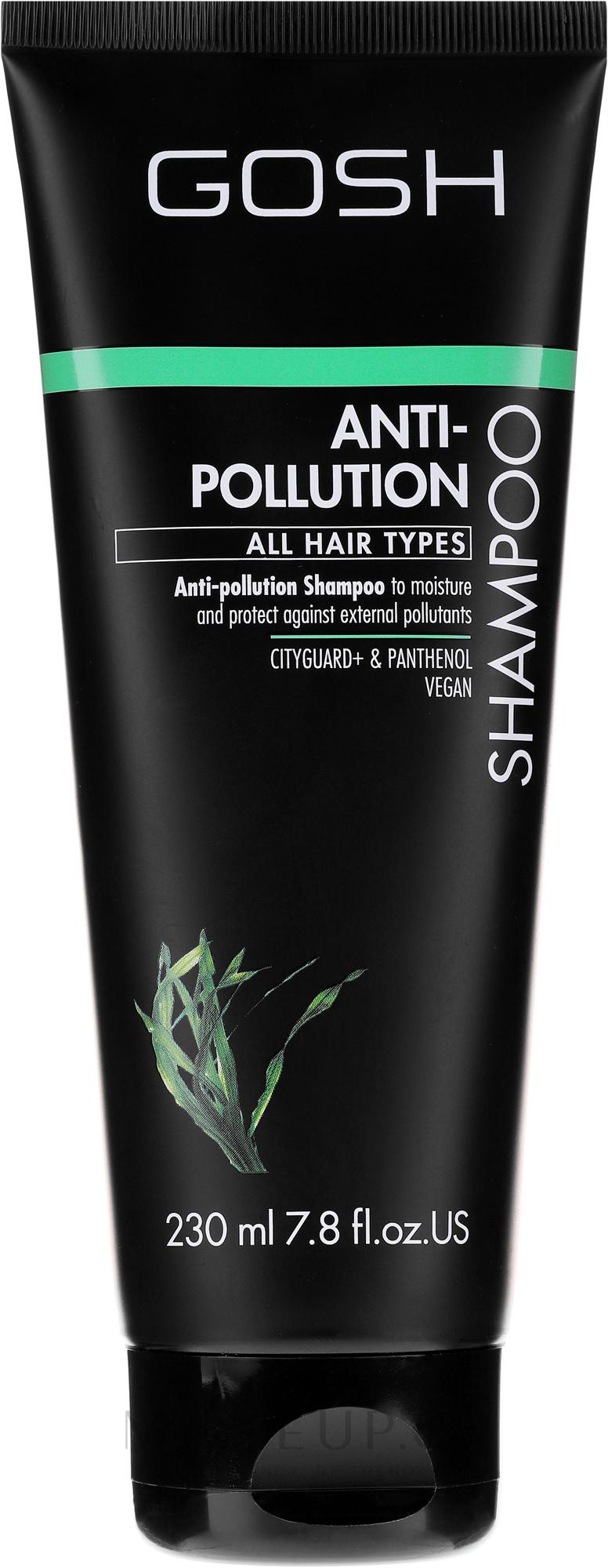 Reinigendes Shampoo für alle Haartypen - Gosh Anti-Pollution Shampoo — Bild 230 ml