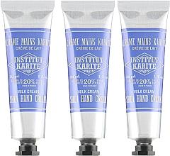 Düfte, Parfümerie und Kosmetik Handpflegeset - Institut Karite Shea Hand Cream (Handcreme mit Milchcreme-Duft 3x30ml)
