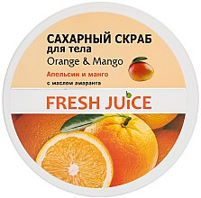 Düfte, Parfümerie und Kosmetik Körperpeeling mit Kristallzucker - Fresh Juice Orange and Mango