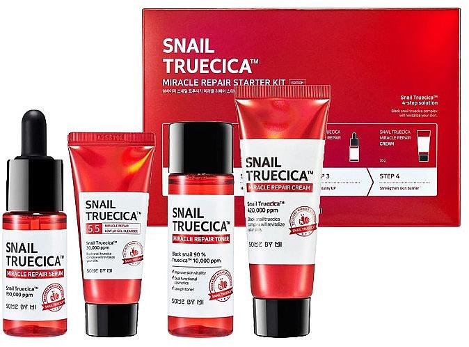 Gesichtspflegeset - Some By Mi Snail Truecica Miracle Repair Starter Kit (Gesichtsgel 30ml + Gesichtstonikum 30ml + Gesichtsserum 10ml + Gesichtscreme 20ml)