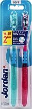 Düfte, Parfümerie und Kosmetik Zahnbürste weich Target Teeth & Gums lila, blau 2 St. - Jordan Target Teeth Toothbrush