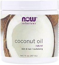 Düfte, Parfümerie und Kosmetik Revitalisierende Kokosbutter für Haut und Haar - Now Foods Solution Coconut Oil