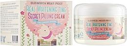 Düfte, Parfümerie und Kosmetik Feuchtigkeitsspendende und aufhellende Peelingcreme für das Gesicht gegen Pigmentflecken - Elizavecca Face Care Milky Piggy Real Whitening Time Secret Pilling Cream