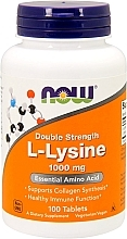 Düfte, Parfümerie und Kosmetik Nahrungsergänzungsmittel Aminosäure L-Lysin 1000 mg - Now Foods L-Lysine Tablets
