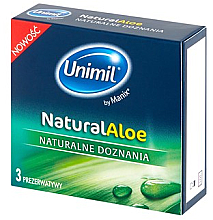 Düfte, Parfümerie und Kosmetik Kondome 3 St. - Unimil Natural Aloe