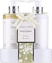 Düfte, Parfümerie und Kosmetik Handpflegeset - Baylis & Harding Urban Barn Lime Basil & Mint (Flüssigseife 300ml + Handcreme 300ml)
