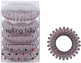 Düfte, Parfümerie und Kosmetik Spiral-Haargummi braun 5 St. - Rolling Hills 5 Traceless Hair Rings Transparent Brown