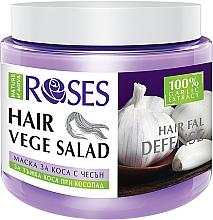 Düfte, Parfümerie und Kosmetik Regenerierende Haarmaske mit Knoblauch gegen Haarausfall für dünnes Haar - Nature of Agiva Roses Hairfall Defense Hair Mask