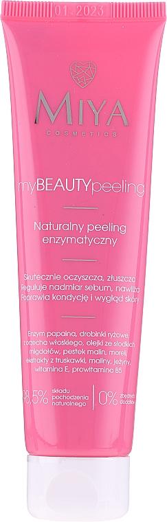 Natürliches Enzympeeling für das Gesicht mit Süßmandel-, Himbeer- und Aprikosenöl - Miya Cosmetics My Beauty Peeling