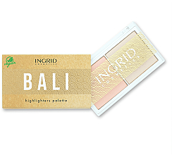 Düfte, Parfümerie und Kosmetik Highlighter-Palette - Ingrid Cosmetics Bali Highlighters Palette