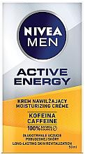 Düfte, Parfümerie und Kosmetik Feuchtigkeitsspendende Gesichtscreme für Männer mit Koffein - Nivea Men Active Energy Caffeine Long-lasting Skin Revitalization