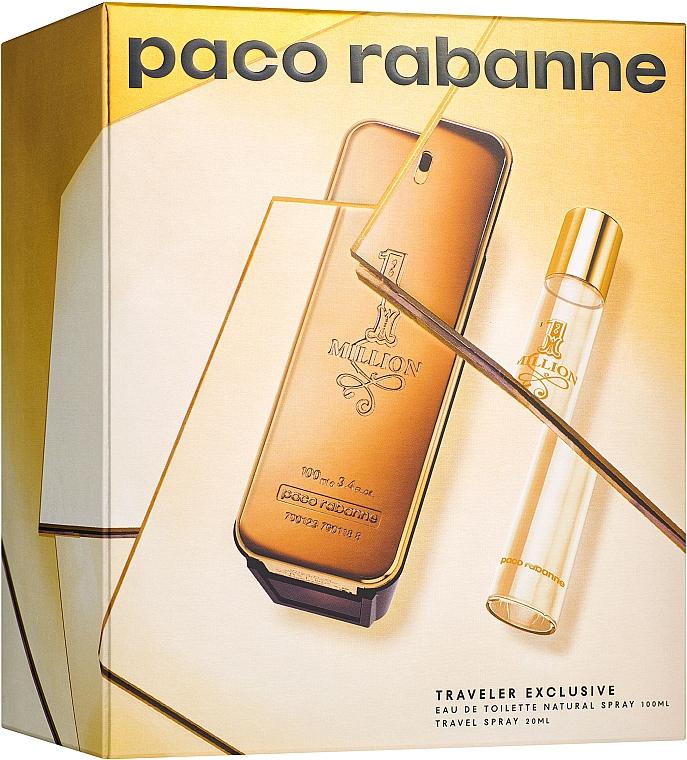 Paco Rabanne 1 Million - Duftset (Eau de Toilette/100ml + Eau de Toilette/20ml)