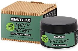 Düfte, Parfümerie und Kosmetik Feuchtigkeitsspendende Gesichtscreme für Männer mit Macadamia-Öl, Salbei- und Hagebuttenextrakt - Beauty Jar Men's Secret Daily Face Moisturizer