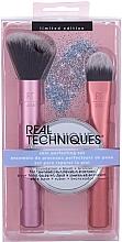 Düfte, Parfümerie und Kosmetik Make-up Set - Real Techniques Skin Perfecting Set (Pinsel 2 St. + Taschenspiegel 1 St.)