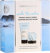 Düfte, Parfümerie und Kosmetik Gesichtspflegeset - Miraculum Woda Termalna (Gesichtspeeling 150ml + Gesichtscreme-Maske 50ml)