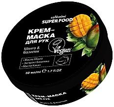 Düfte, Parfümerie und Kosmetik Creme-Maske für Hände mit Mango und Basilikum - Cafe Mimi Super Food