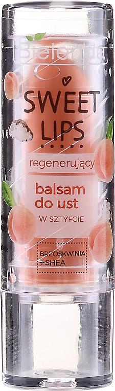 Revitalisierender Lippenbalsam mit Pfirsich und Sheabutter - Bielenda Sweet Lips Regenerating Lip Balm