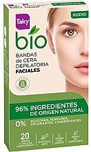 Düfte, Parfümerie und Kosmetik Enthaarungswachsstreifen für das Gesicht - Taky Bio Natural 0% Face Wax Strips