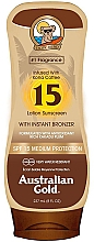 Düfte, Parfümerie und Kosmetik Sonnenschutzlotion mit Bronzer SPF 15 - Australian Gold Lotion With Bronzer Spf15