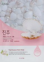 Düfte, Parfümerie und Kosmetik Feuchtigkeitsspendende und aufhellende Tuchmaske mit Perlenextrakt - Esfolio Pearl Essence Mask Sheet