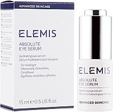 Düfte, Parfümerie und Kosmetik Feuchtigkeitsspendendes und revitalisierendes Augenkonturserum mit Kamille, Duftblüten und Kornblume - Elemis Advanced Skincare Absolute Eye Serum