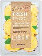 Düfte, Parfümerie und Kosmetik Aufhellende Tuchmaske für das Gesicht mit Ananasextrakt - Tony Moly Fresh To Go Mask Sheet Pineapple