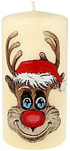 Düfte, Parfümerie und Kosmetik Dekorative Kerze Rudolf creme 7x10 cm - Artman Christmas Candle Rudolf