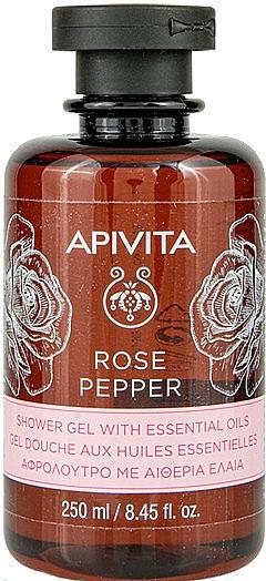 Duschgel mit Rose, Pfeffer und ätherischen Ölen - Apivita Shower Gel Rose & Black Pepper