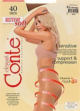Düfte, Parfümerie und Kosmetik Strumpfhose für Damen Active Soft 40 Den Natural - Conte