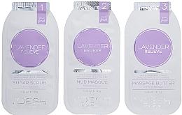 Düfte, Parfümerie und Kosmetik Spa-Behandlung in 3 Schritten für Nägel und Hände mit Lavendel - Voesh Mani In A Box Waterless 3 Step Lavander Relieve