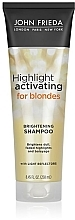 Düfte, Parfümerie und Kosmetik Hydratisierendes Shampoo für blonde Haare - John Frieda Sheer Blonde Highlight Activating Moisturising Shampoo
