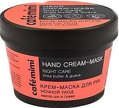 Düfte, Parfümerie und Kosmetik Pflegende Handmaske für die Nacht mit Sheabutter und Guave - Cafe Mimi Hand Cream-Mask Night Care